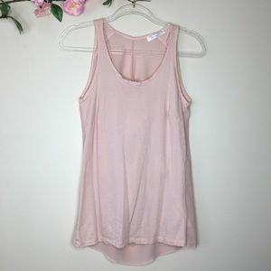 Zara collection pale pink tank top size small
